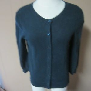 Ann  Taylor LOFT M Navy Cardigan Sweater
